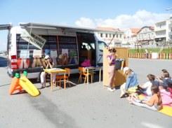A Biblioteca Itinerante vai à praia!