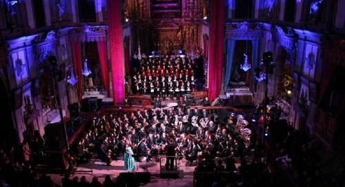 A melhor música, no Concerto de Natal