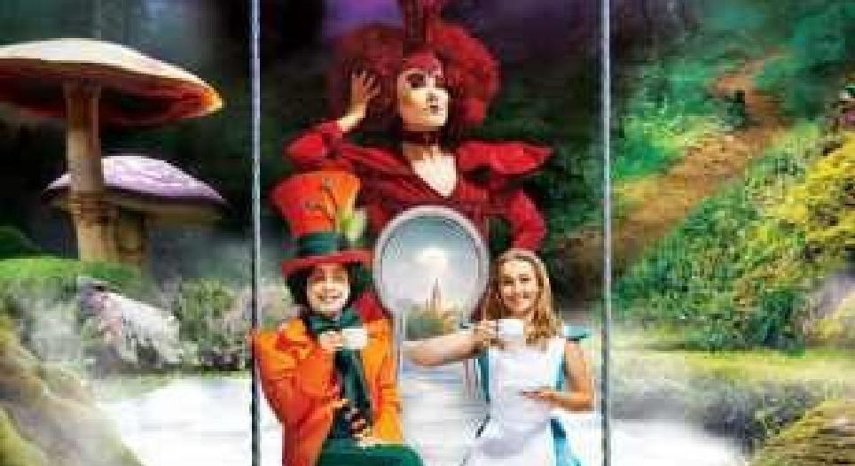 Alice e o País das Maravilhas no Gelo