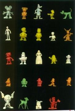 Brindes: personagens de banda desenhada e animação.
