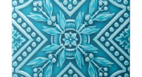 Falso mosaico em barro