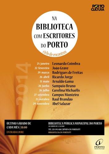 Na Biblioteca com Escritores do Porto: ciclo de encontros