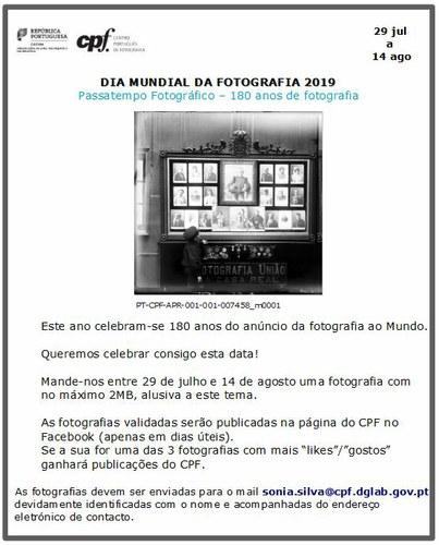 """Passatempo Fotográfico """"180 anos de Fotografia"""""""