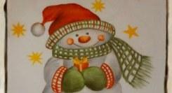 Pintura de azulejo de Natal