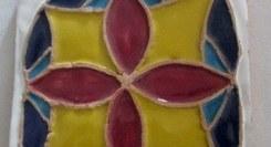 Pintura em azulejo de aresta