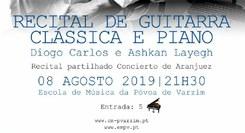 Recital de Guitarra Clássica e Piano