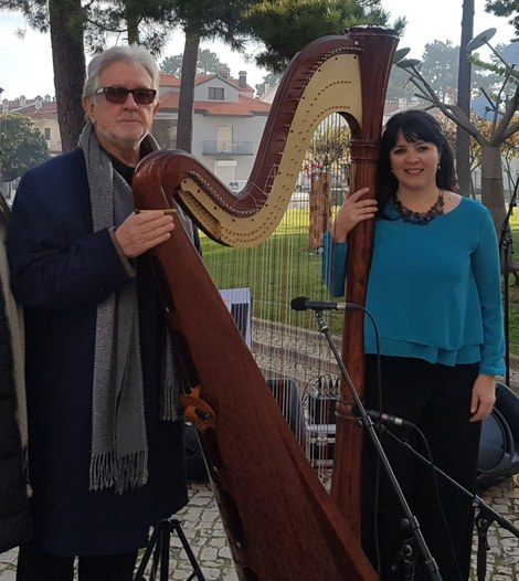 Recital de Poesia e Harpa com Vitor de Sousa e Emanuela Nicoli