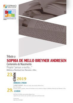Recital de Poesia  Tributo a Sophia de Mello Breyner