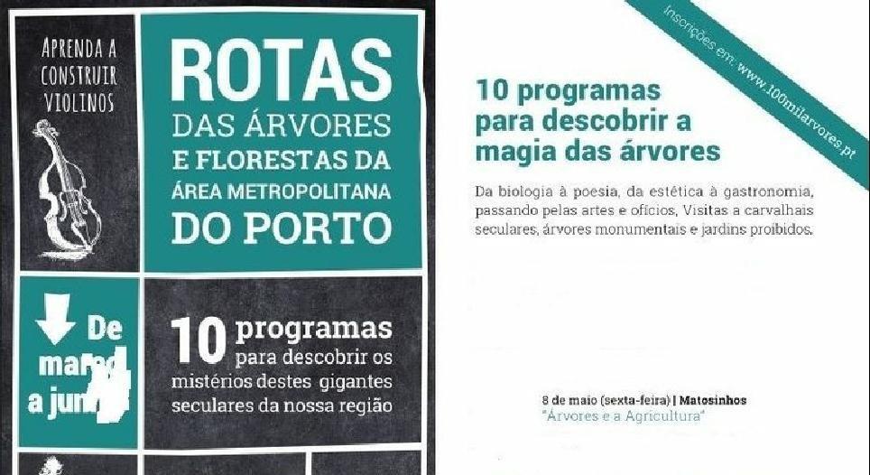 Rotas das Árvores e Florestas na Área Metropolitana do Porto